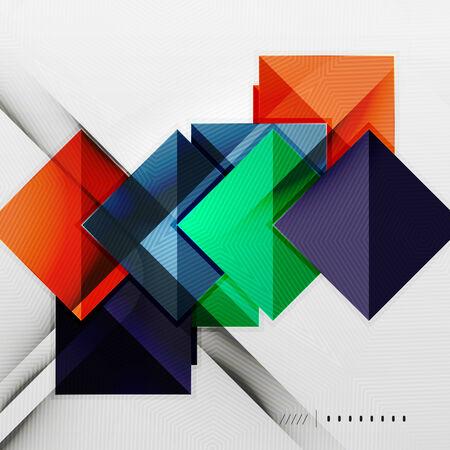 Geometric squares and rhombus futuristic template Vector
