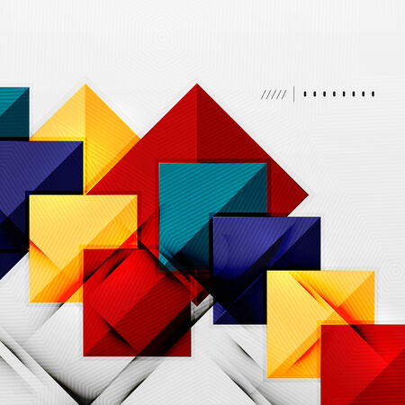 Geometric squares and rhombus futuristic template Vector