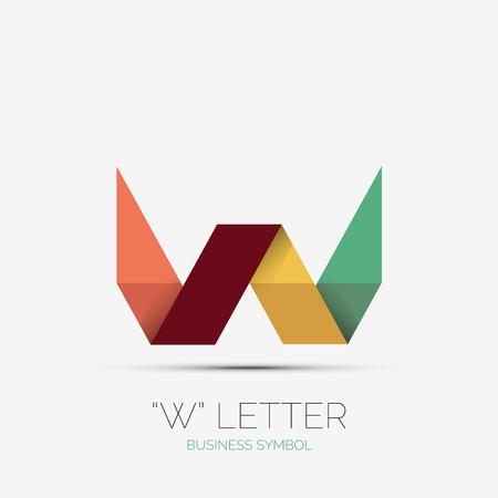 W letter company minimal design