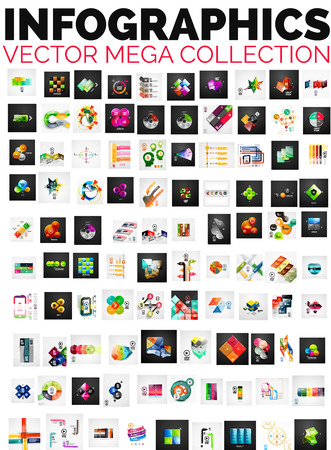 large: Mega collection of 100 infographic layouts