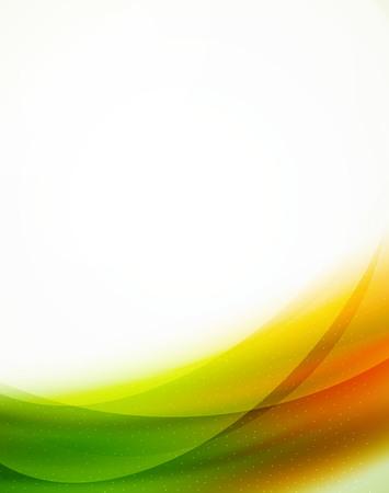 orange sky: Unusual blur wave abstract background