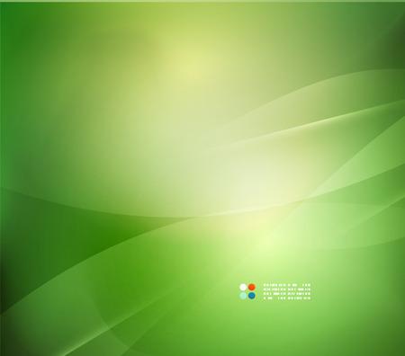 Čerstvé zelené rozostření vlna a barvy Ilustrace