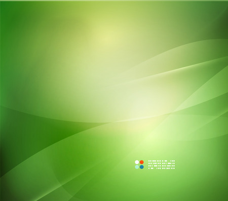green background: Fresh green blur wave and colors Illustration