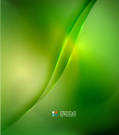 de focus: Fresh green blur wave and colors Illustration