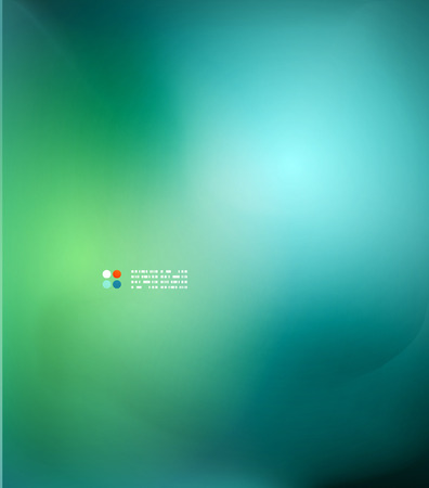 Green and blue blurred design template Illustration