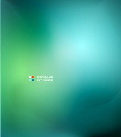 blurred: Green and blue blurred design template Illustration