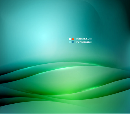 Green and blue blurred design template 向量圖像