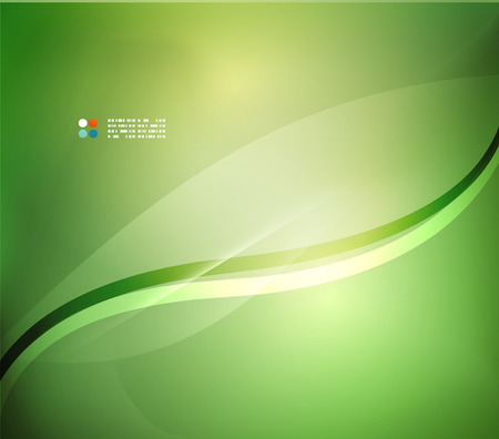 Fresh green blur wave and colors Illustration