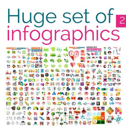 forme: Méga ensemble énorme de modèles infographiques Illustration