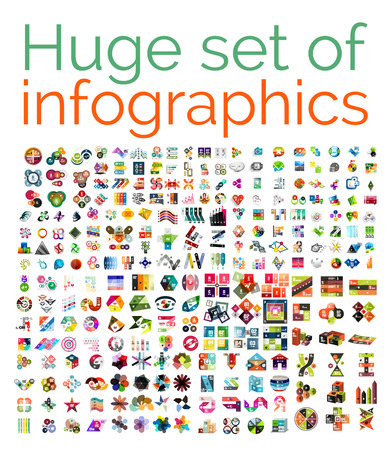 set square: Huge mega set of infographic templates Illustration