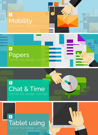 Mobility concept flat design banners Vector