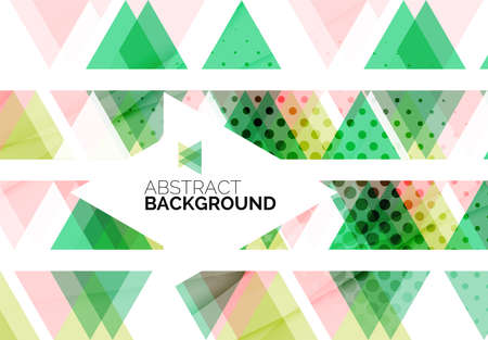 Triangles, geometric clean abstract background Vector