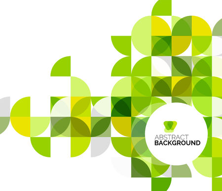 Circle geometric abstract background Illustration