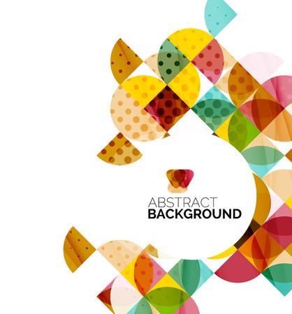 circle design: Circle geometric abstract background Illustration