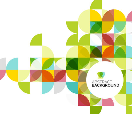 circle pattern: Circle geometric abstract background Illustration