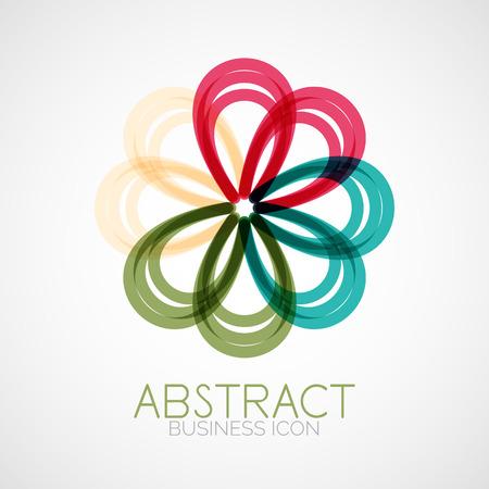 Symmetric abstract geometric shape Vector