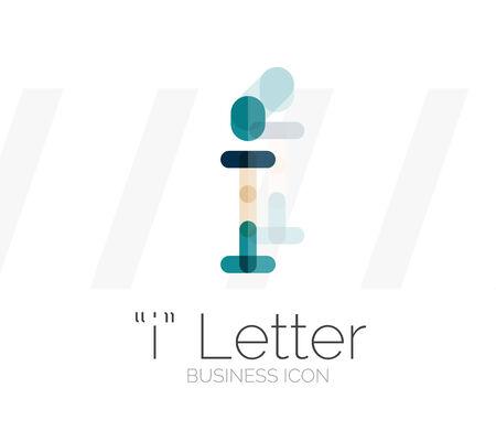 I letter logo, minimal line design Vector