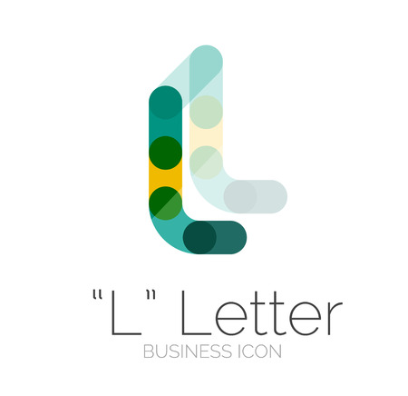 Minimal font or letter design Vector