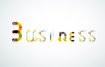 business word: Business word keyword font