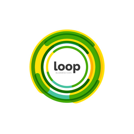 loop: Loop, infinity business icon Illustration