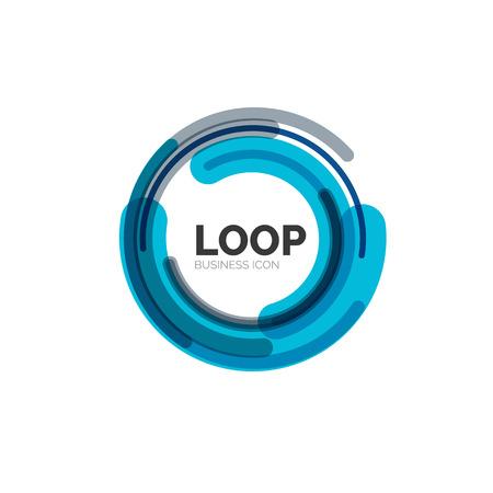 circle shape: Loop, infinity business icon Illustration