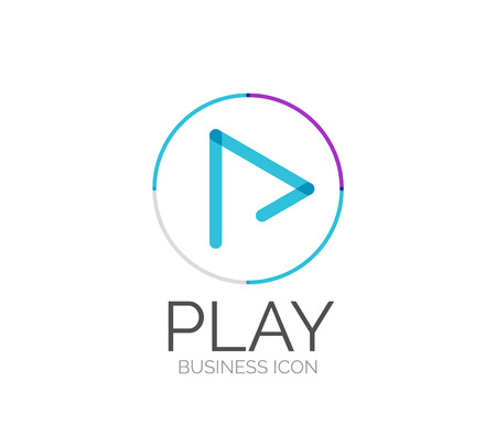 play music: Minimal line design logo