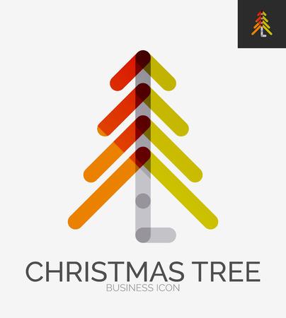 xmas tree: Minimal line design , Christmas tree icon