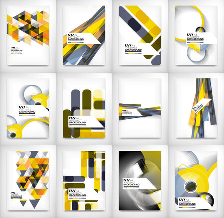 billboard: Geometric abstract business template Illustration