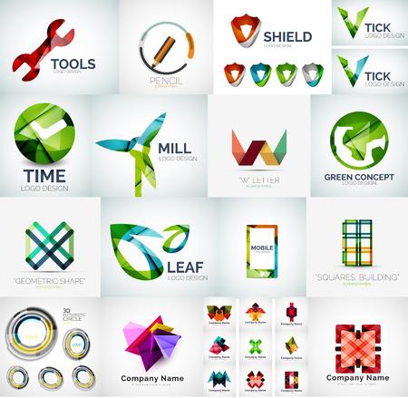 Abstract společnost logo kolekce