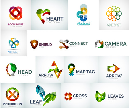 shield logo: Abstract company logo collection