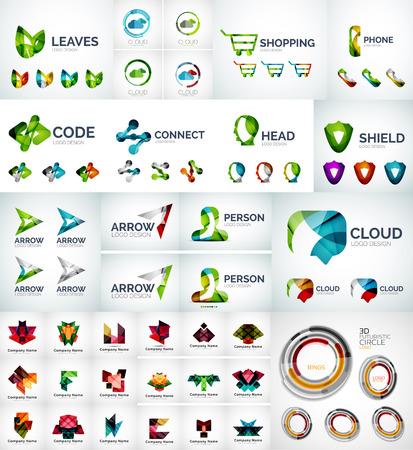 aziende: Abstract societ� logo raccolta
