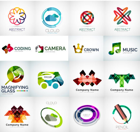 Abstract company logo vector collection Vector
