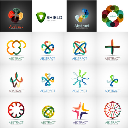security company: Abstract company logo vector collection