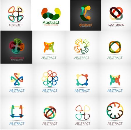 Abstract company logo vector collection Vector