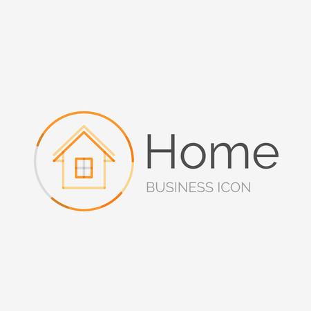 logo casa: Linea sottile design pulito logo, idea casa