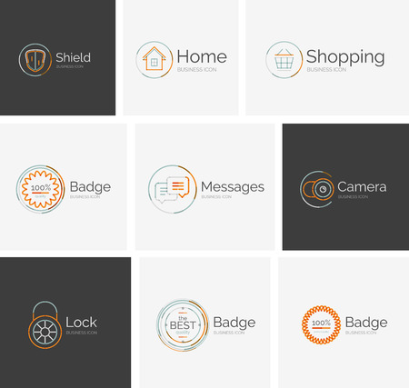 neat: Thin line neat design icon collection Illustration