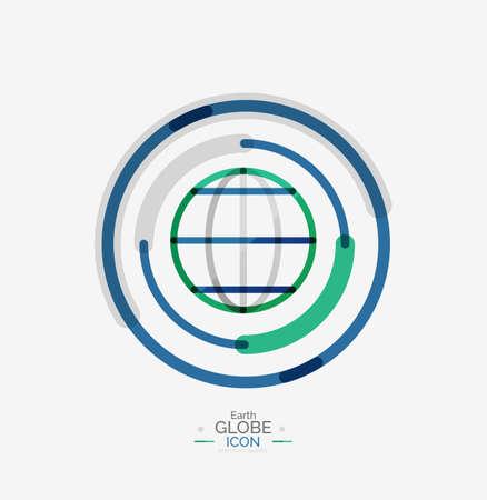 globe logo: World globe logo stamp