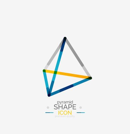 Pyramid shape line design concept