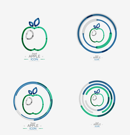 Apple concept, stamp Vector