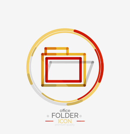accounting logo: Folder logo, stamp. Accounting binder