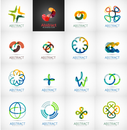Abstract company icon collection Vector