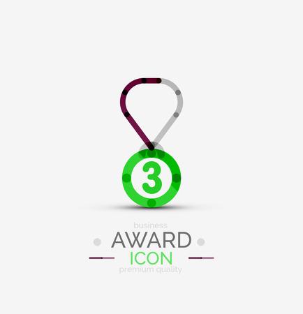 Award icon, logo. Vector