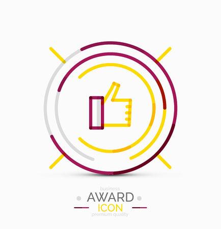 Thumb up icon design Vector