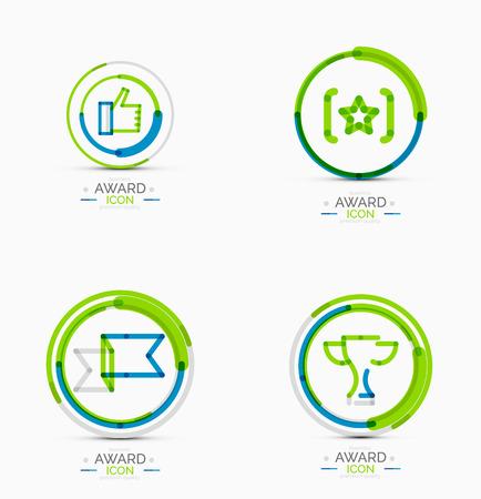 Award icon set collection Vector