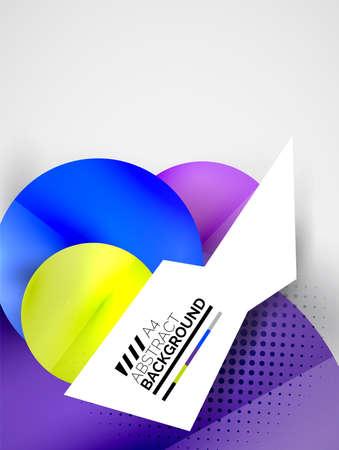 hitech: Abstract circles, hi-tech futuristic background