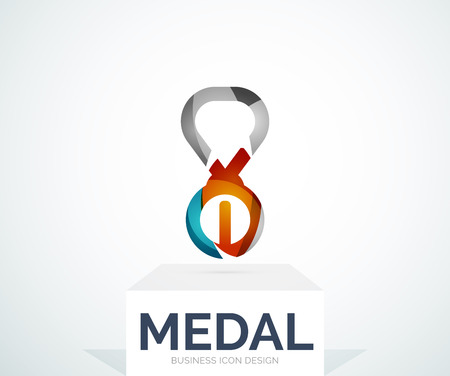 Abstract colorful design medal Vector