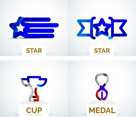 Abstract colorful logo design Vector