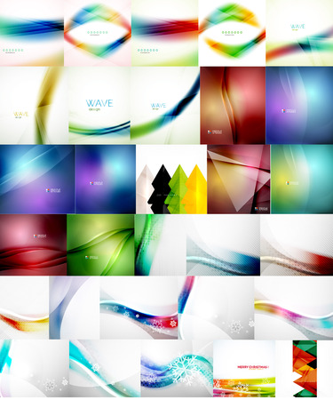 Set of Vector Abstract Backgrounds Vector