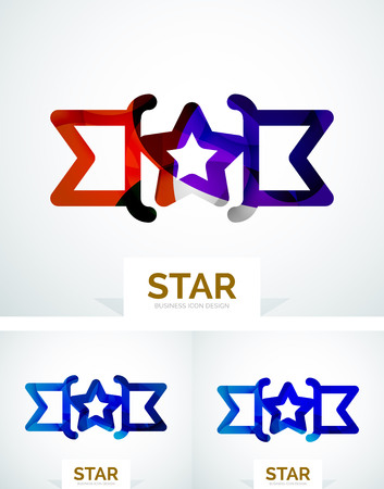 Abstract colorful logo design, awards. Made of color shapes Vector