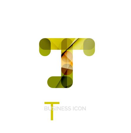 letter t: Minimal T font or letter logo design Illustration